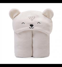 KINDMO KIDS - Cobertor com Capuz Bordado Ursinho Bege
