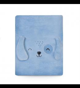 KINDMO KIDS - Cobertor Bordado Cachorrinho Azul