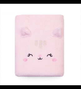 KINDMO KIDS - Cobertor Bordado Gatinha Rosa