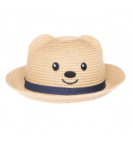 KINDMO KIDS - Chapéu de Palha Baby Urso