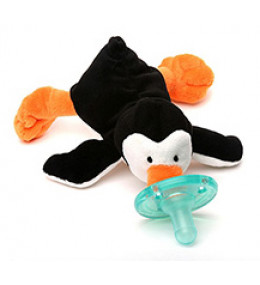 KINDMO KIDS - WubbaNub Little Penguin - Chupeta com pinguim de pelúcia