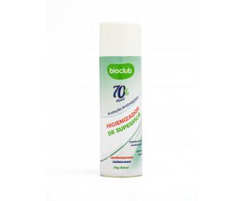 Higienizador Roupas e Superfícies Aerosol Alcool 70% Bioclub - 300ml