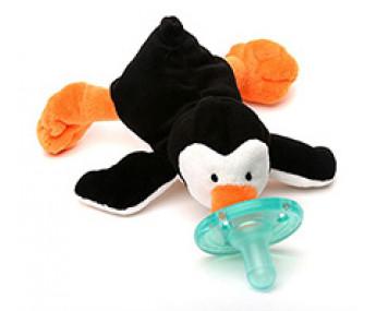 WubbaNub Little Penguin - Chupeta com pinguim de pelúcia
