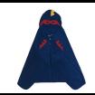Toalha de Banho Super Herói Máscara e Capa - Azul
