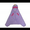 KINDMO KIDS - Toalha de Banho Super Herói Máscara e Capa - Lilás
