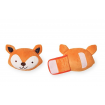 KINDMO KIDS - Kit Car Seat e Carrinho Brinquedo e Almofada de Pescoço Raposa